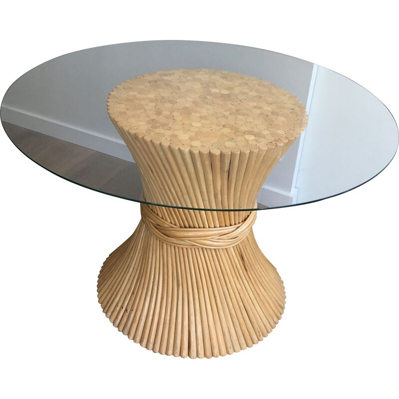 Vintage Dining Room Table Ronde Diabolo 1970