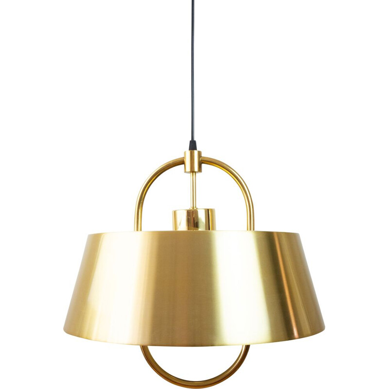 Vintage brass lamp Hercules by Jo Hammerborg, Danish 1977