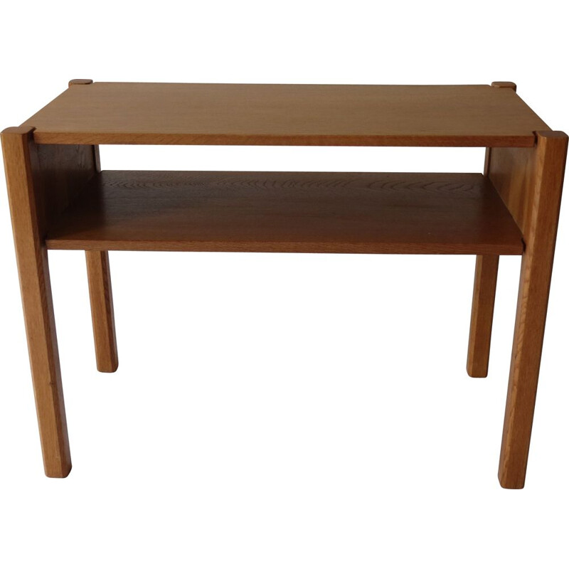 Vintage Oak Side Table Bedside Table By Paul Litton With Dovetail 1960s