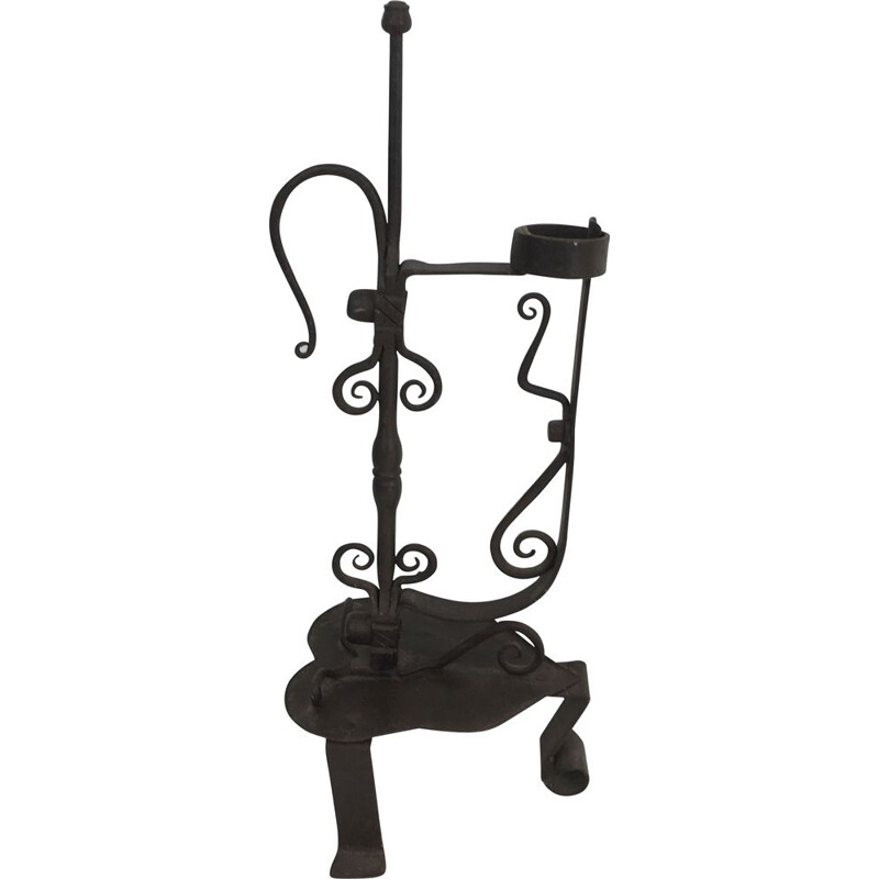 Vintage wrought iron candle holder 1930's