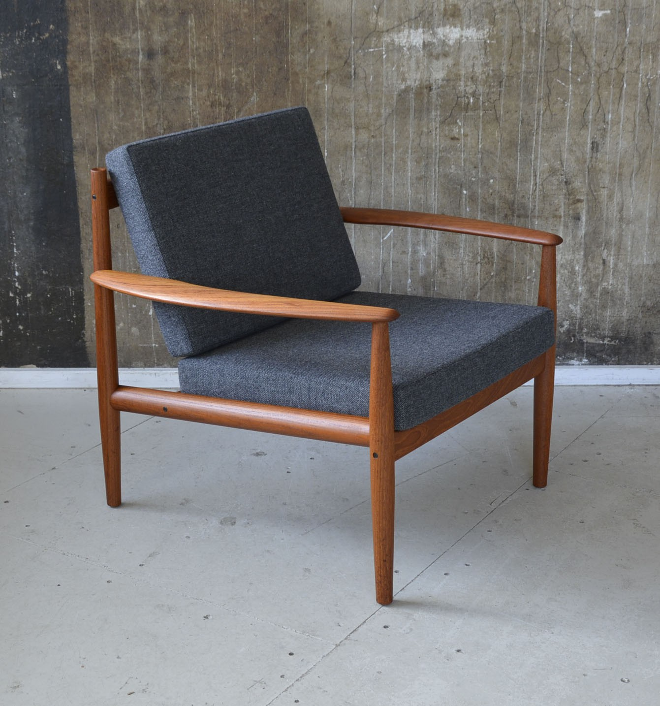 France & Son Mid-century Armchair In Teak And Fabric