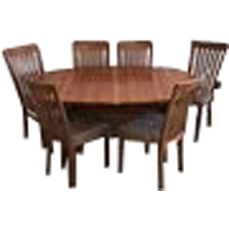 Mid Century Teak Dining Table And 6 Chairs By Gangso Denmark