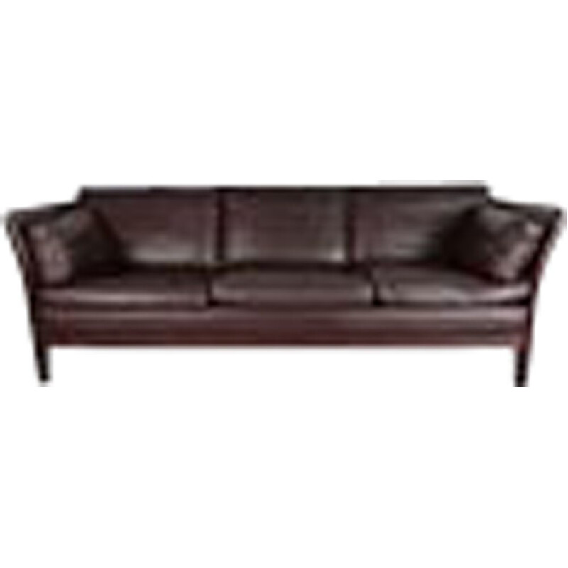 Vintage Sofa Chocolate Brown Leather Stouby