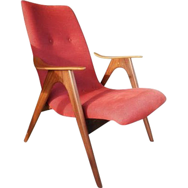 Vintage armchair by Louis Van Teeffelen dutch 1950