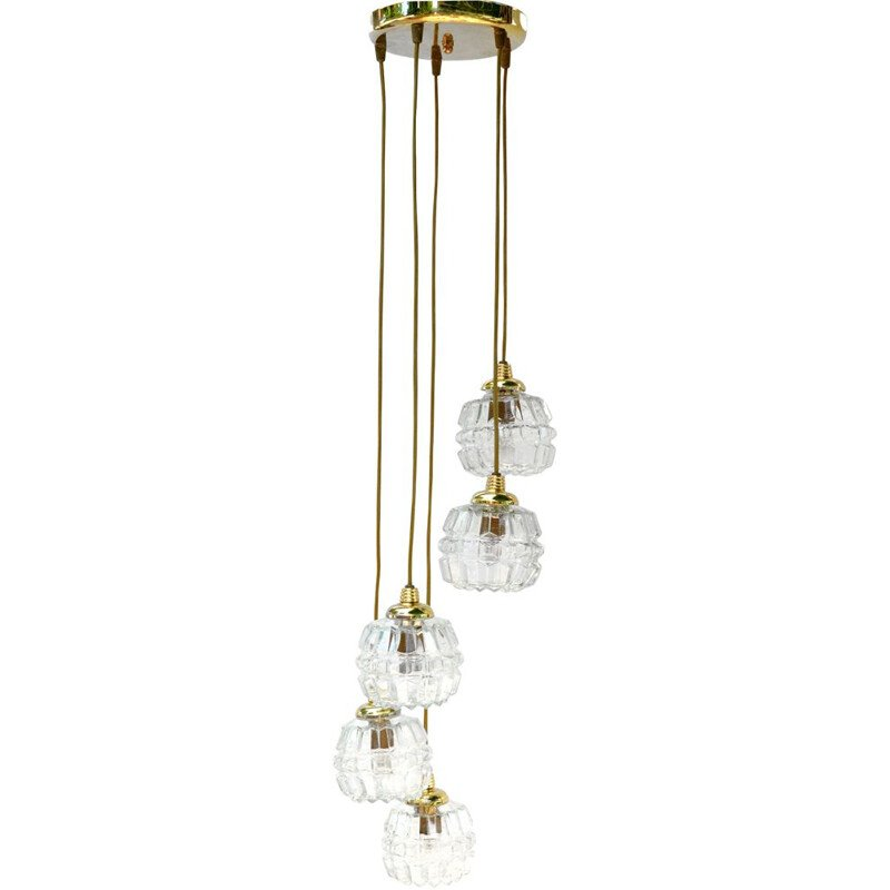 Vintage Cascade Chandelier, Honsel Leuchten,Hollywood Regency  Germany, 1970s