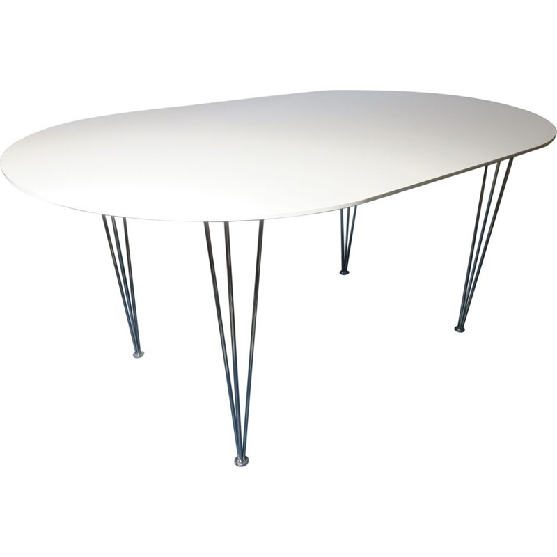 Vintage Dining Table,Ellipse-Shaped  Danish 1970s