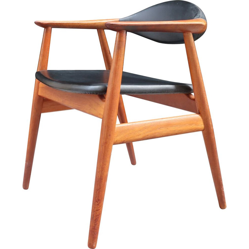 Vintage Erik Kirkegaard office chair for Scandinavian Glostrup 1960
