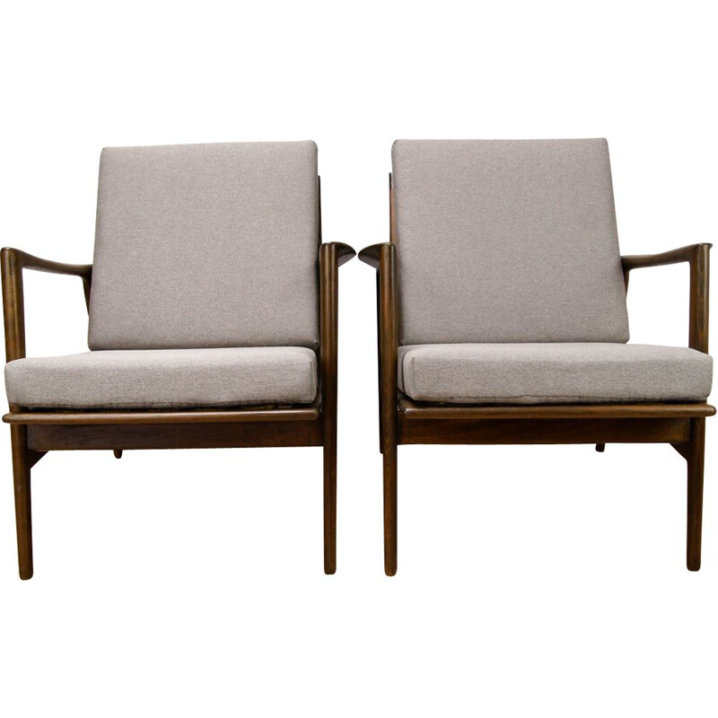 Set of 2 vintage Armchairs by Swarzędzka Factory, 1960s