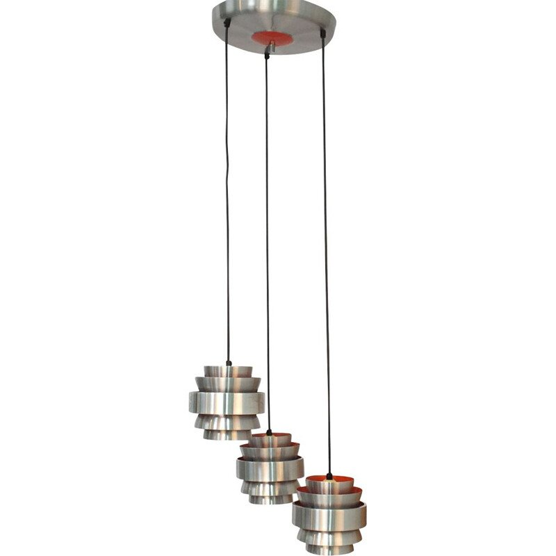 Pendant with three shades by Lakro 1960