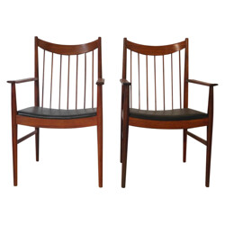 Sibast mid-century pair of chairs in rosewood, Arne VODDER - 1960s
