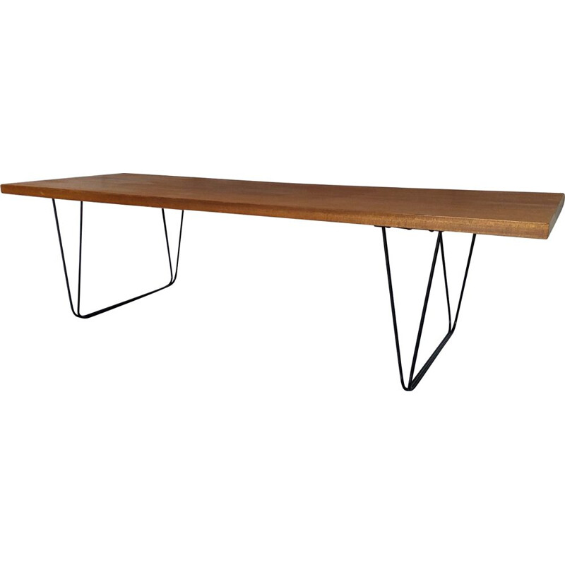 Vintage coffee table CM191 Pierre Paulin Thonet 1950