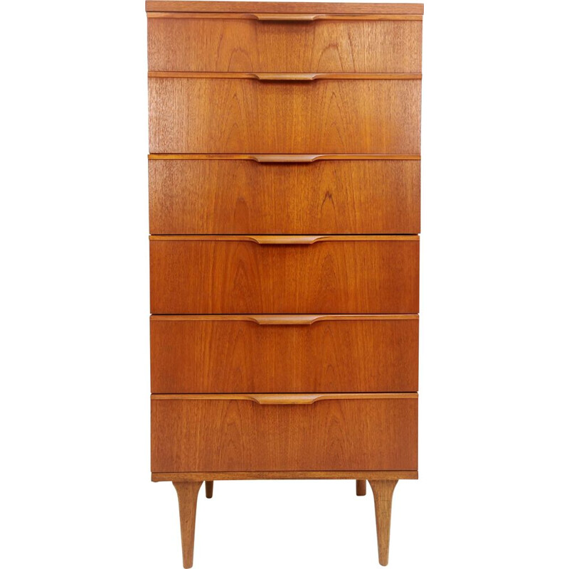 Vintage Teak Mid Century Chest of Drawers Frank Guille For Austinsuite 1960s