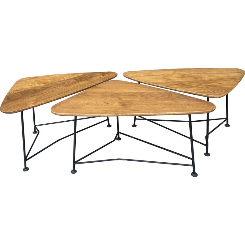 Suite of vintage 3 free form  coffee tables