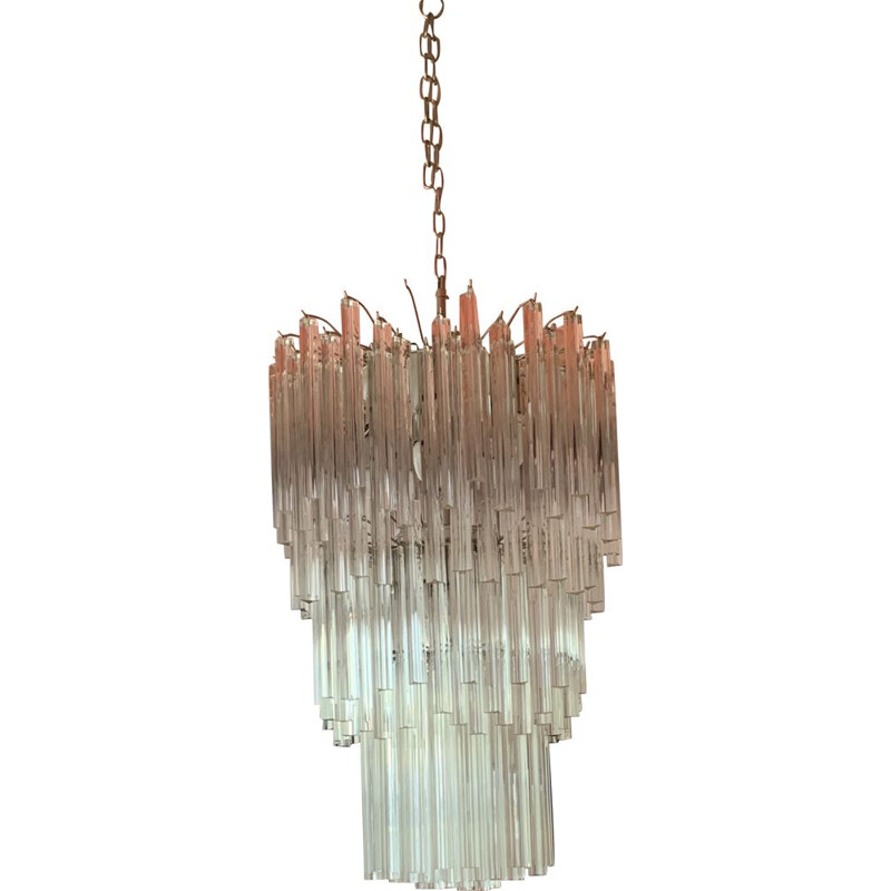 Vintage chandelier Murano, by Venini 1970