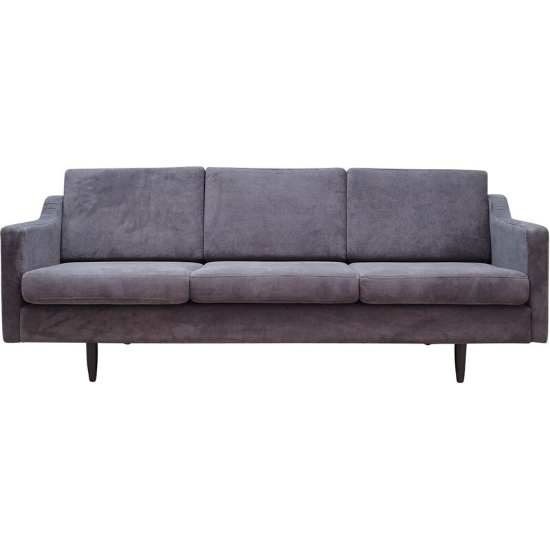 Vintage sofa grey upholstery 1970