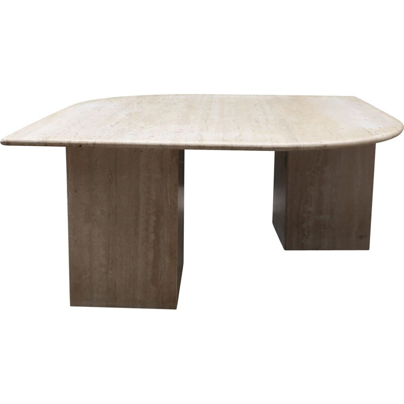 Vintage travertine table 1990