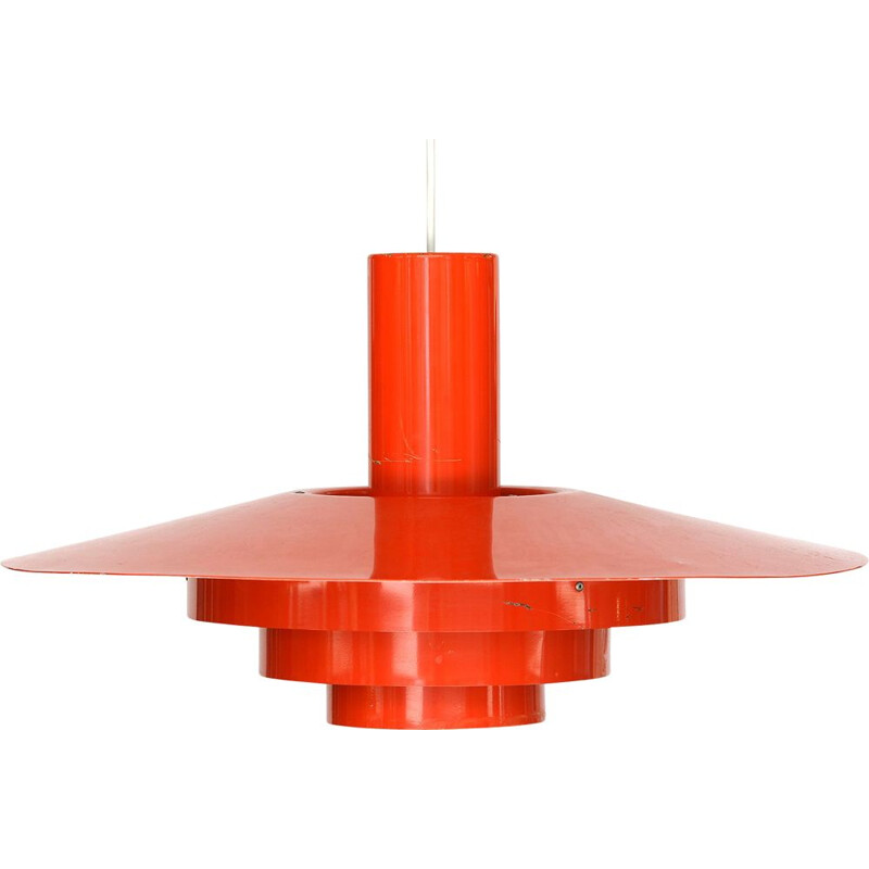 "Vintage Pendant light ""Karlebo"" by Skaarup and Jespersen for Fog & Mørup. Denmark 1960s"