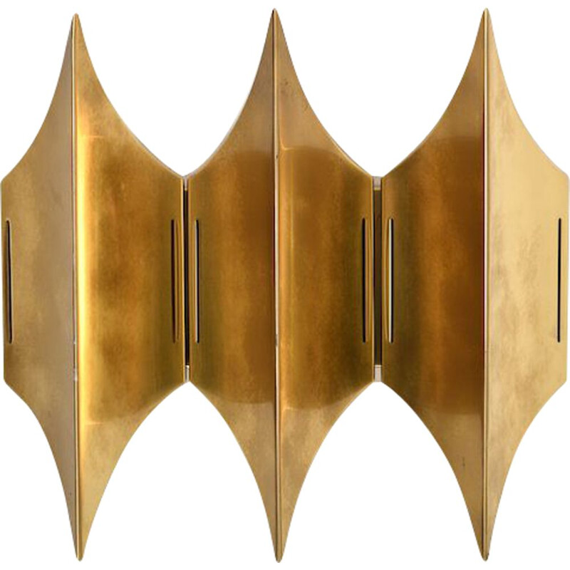"Mid Century ""Gothic III"" wall lamp in brass. Designed by Bent Karlby for Lyfa 1960s"