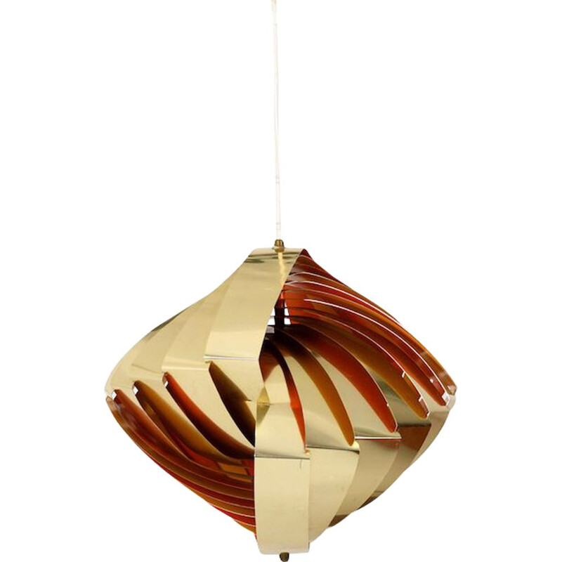 Vintage Pendant Light by Louis Weisdorf for Lyfa Konkylie 1965