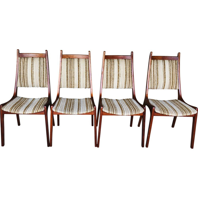 Set of 4 vintage teak chairs by R Huber& Co 1960