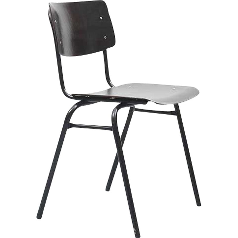 Vintage Ahrend Ebony Black Chair 1960