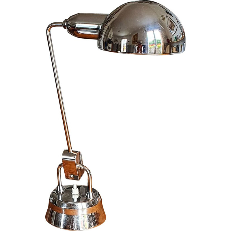 Vintage lamp Jumo 600 chrome plated, French 1950