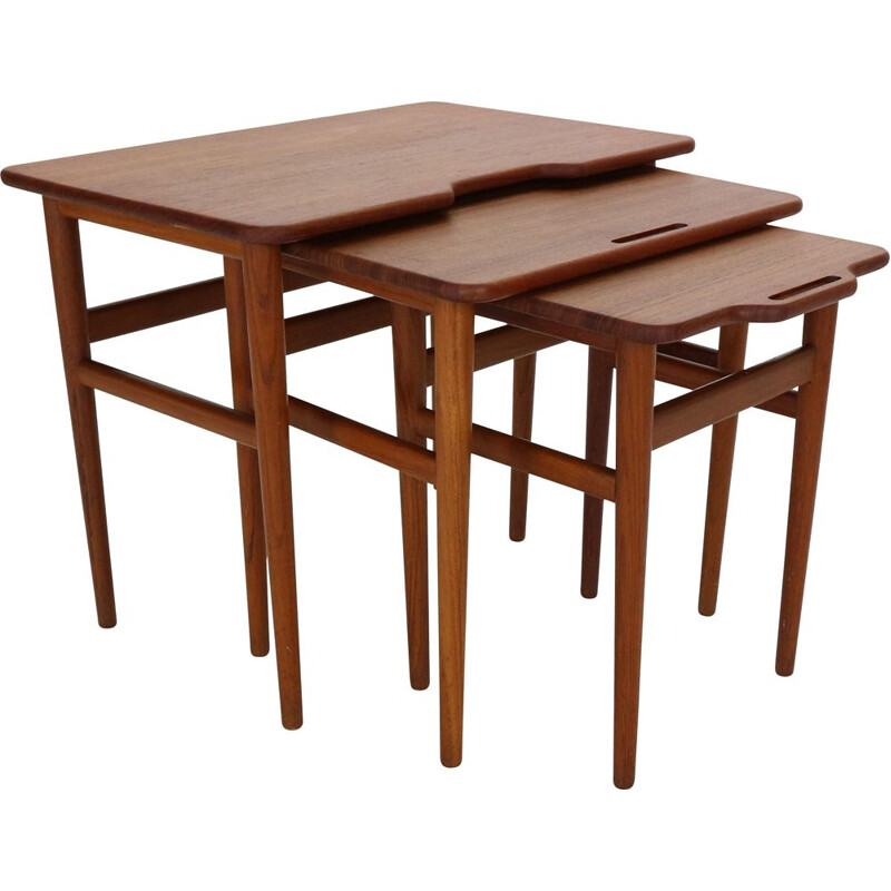 Mid-Century Teak Nesting by Kurt Østervig for Jason Mobler,Danish 1960s