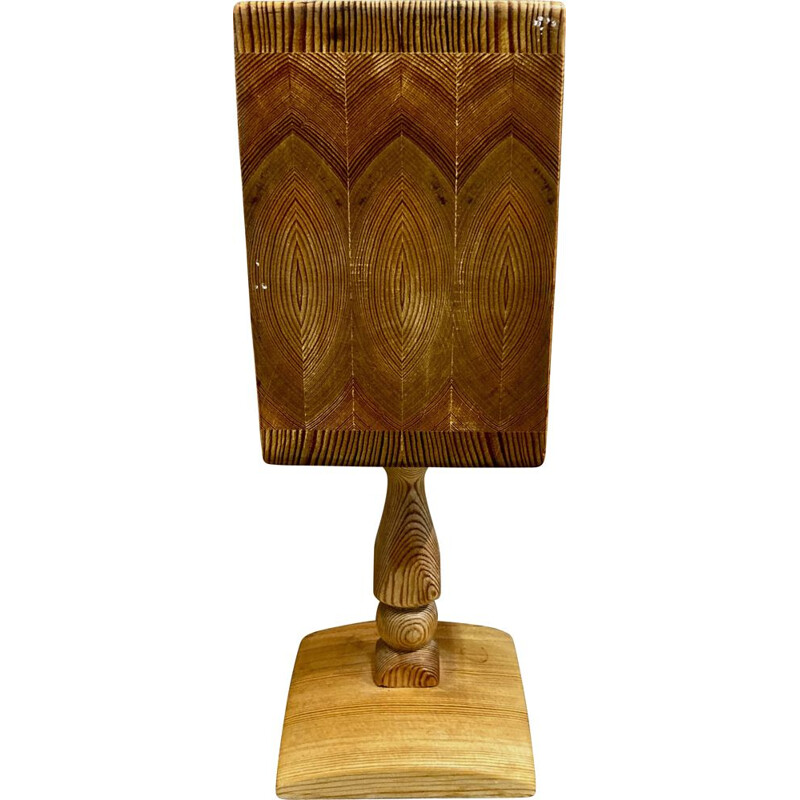 Vintage lamp solid wood Scandinavian 1950