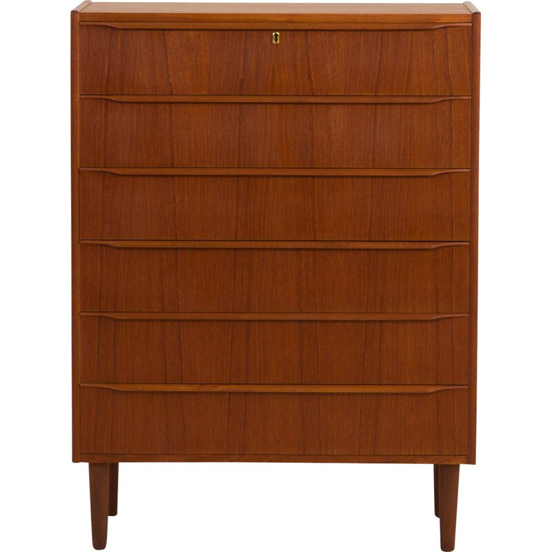Vintage teak 6-drawer chest of drawers from Erik Baden's Mobelfabrik,1950s