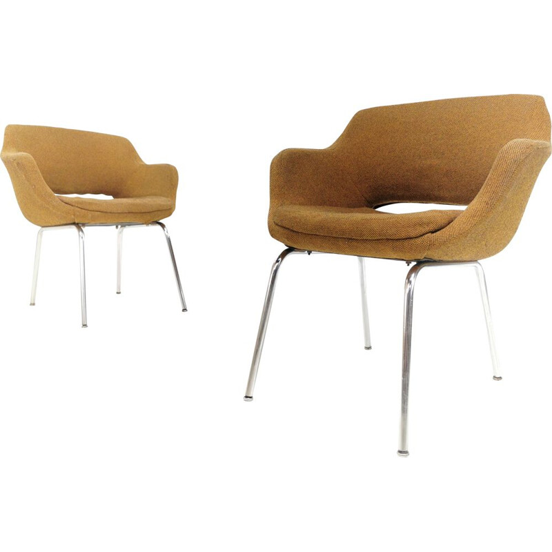 Pair of vintage armchairs in reinforced expanded foam, 1960s