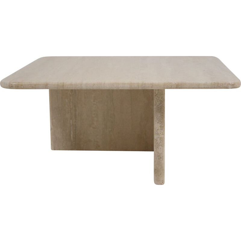 Vintage table Travertine marble French 1960
