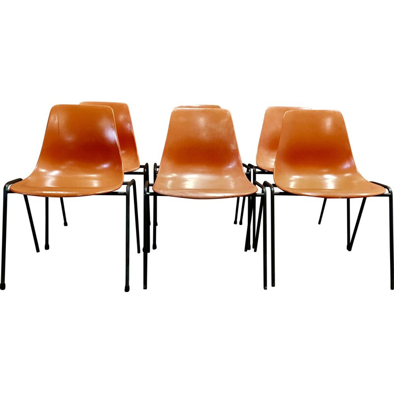 Set of 6 vintage Georg Leowald chairs 1960