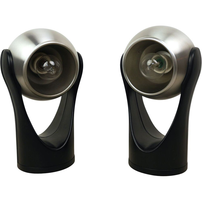 Pair of vintage model Sensorette Table Lamps from Insta, Germany, 1970s