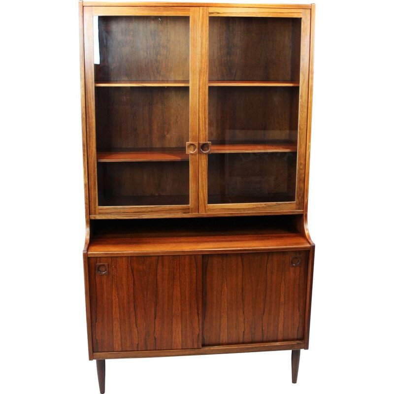 Vintage Cabinet with glass doors in rosewood of danish 1960s