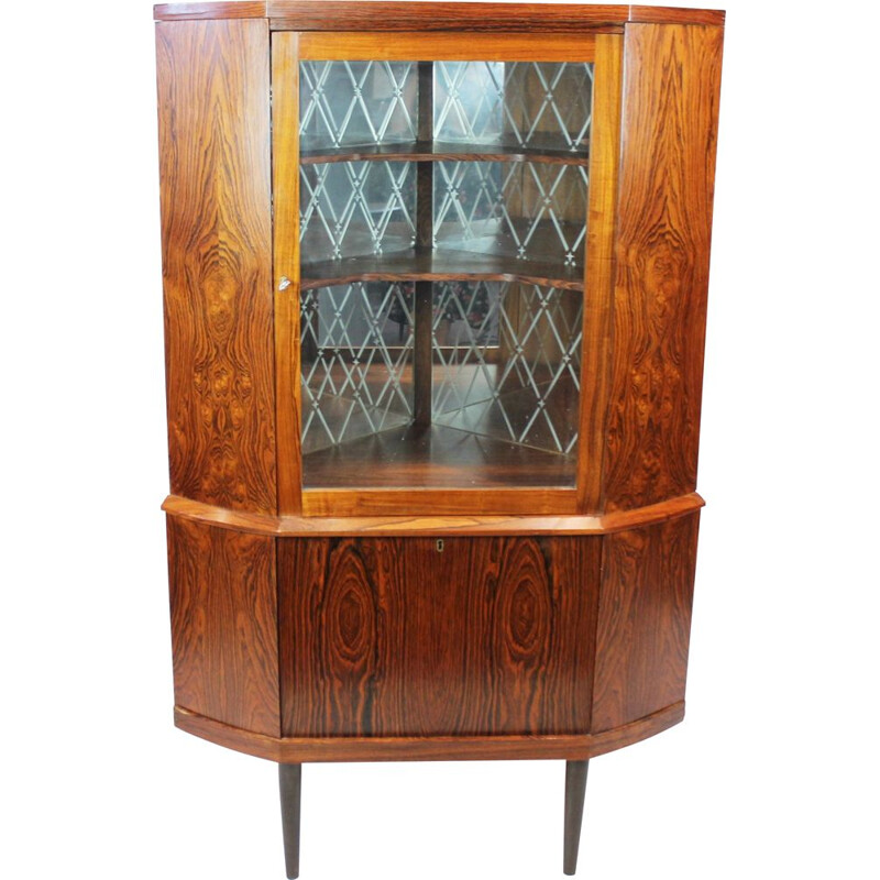Vintage Corner cabinet with bar cabinet in rosewood of danish 1960s
