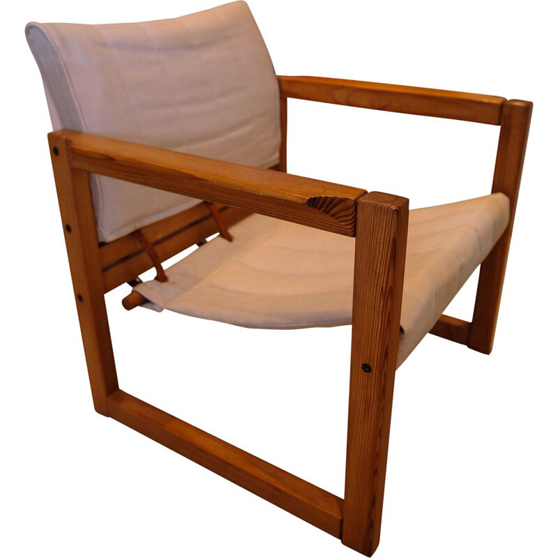Vintage Armchair Pine Safari by Karin Mobring for Ikea, 1972