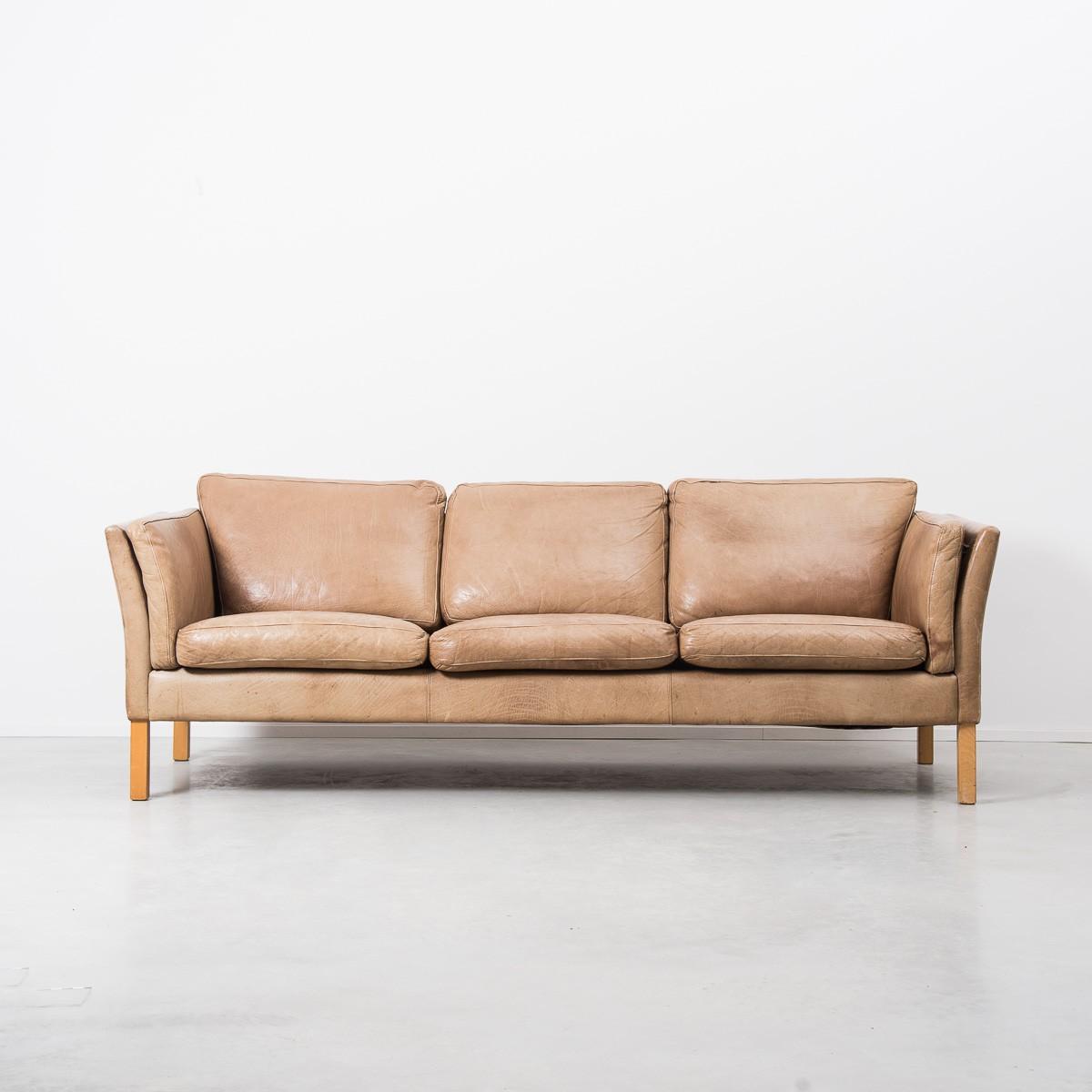 Scandinavian Leather Sofa, Erik JORGENSEN