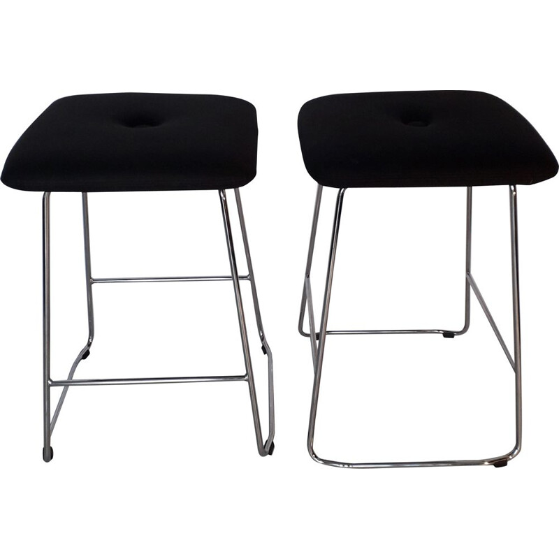 Pair of Bla Station vintage bar stools