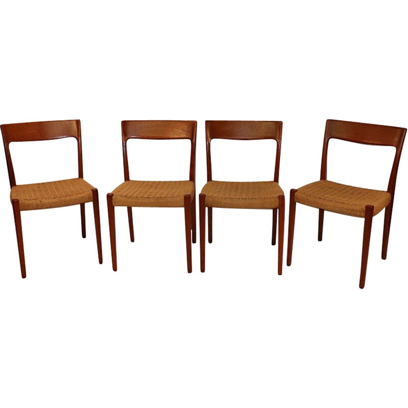 Set of 4 vintage svelte Markaryd Scandinavian Markaryd chairs 1960