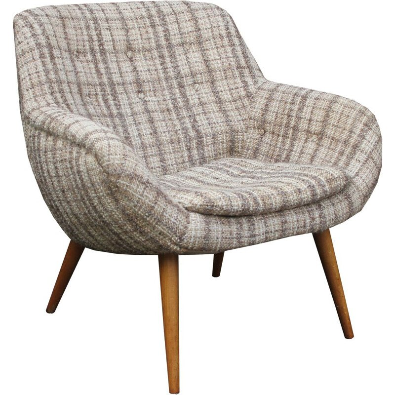 Vintage ball chair in beigebrown 1950