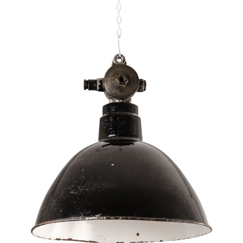 Vintage Industrial pendant lamp by LBL, Germany, 1950