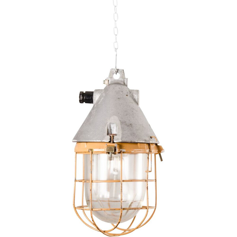 Vintage Industrial Ceiling Lamp,German 1950