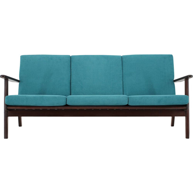 Vintage Teak 3-Seater Sofa Danish 1960s