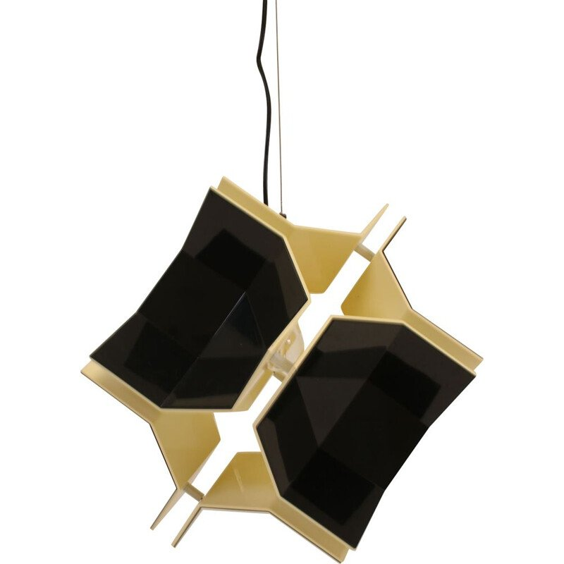 Vintage Acrylic Pendant Lamp  Space Age by Christophe de Ryck for Dark, 1970s