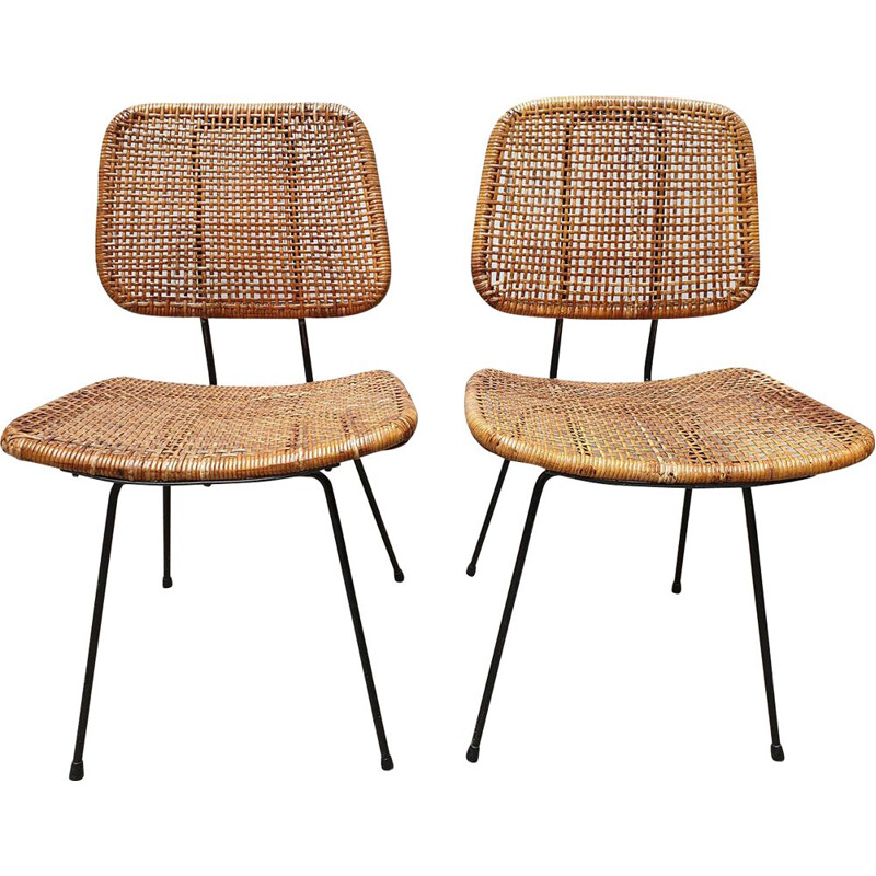 Pair of vintage chairs Dirk Van sliedregt 1966