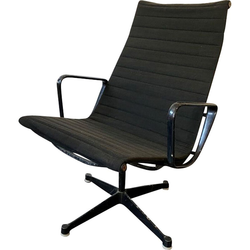 Vintage Group Alu swivel armchair with high backrest for Herman Miller Charles & Ray Eames 1958