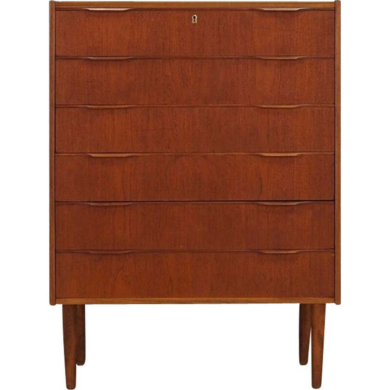 Vintage chest of drawers in teak Danish 1970