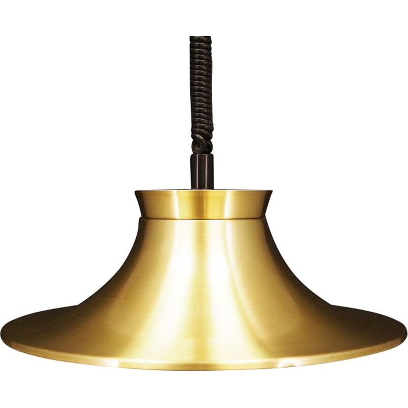 Vintage Gold lamp metal danish 1960
