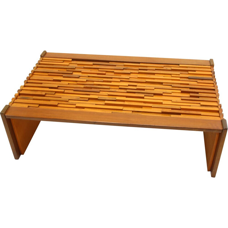 Large Brutalist coffee table by  Percival Lafer Brazilian 1960s