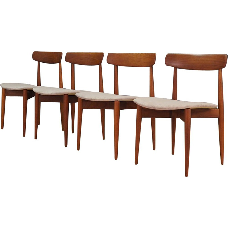 Set of vintage 4 chairs H. W. Klein 1960s
